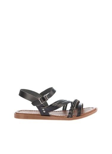 Pembe Potin A3003-18 Kadın Sandalet Siyah